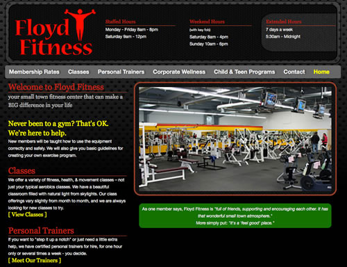 FloydFitness_website