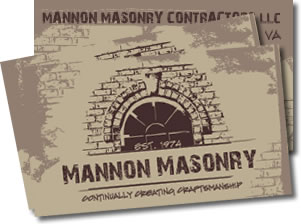 Mannon masonry signature designs for Masonry business card ideas